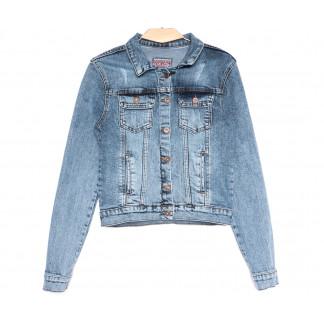 0643 Redmoon куртка джинсовая женская с царапками синяя весенняя стрейчевая (S-XL, 4 ед.) REDMOON: артикул 1106311