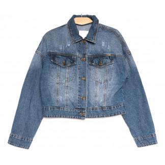 0806 KT.Moss куртка джинсовая женская с царапками синяя весенняя коттоновая (S-L, 6 ед.) KT.Moss: артикул 1106460