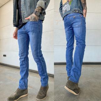 6004 Pobeda джинсы мужские синие весенние стрейчевые (29-38, 8 ед.) Pobeda: артикул 1105208