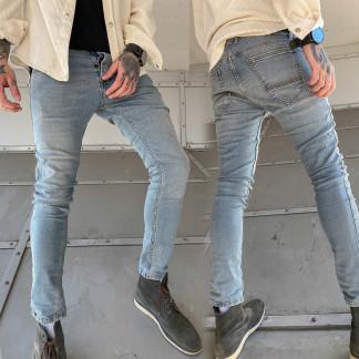 0242 (223) Pirate джинсы мужские серо-синие весенние стрейчевые (32-36, 8 ед.) Pirate: артикул 1106673