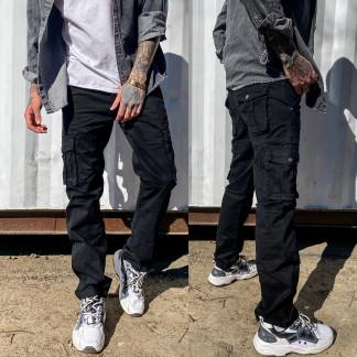 1672-1 черные Iteno брюки мужские карго весенние стрейч-котон (30-38, 6/12 ед.) Iteno: артикул 108862611