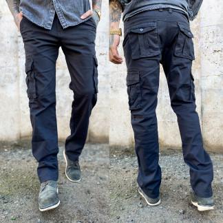 "1672-7 серый Iteno (30-38, 6/12 ед.) ""классика"" мужские брюки с накладными карманами в коттоне Iteno: артикул 1064489_1"