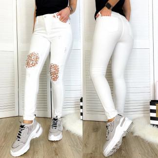 0414 Periscope джинсы женские белые с декоративной отделкой летние стрейчевые (36-42, евро, 8 ед.) Periscope: артикул 1106648