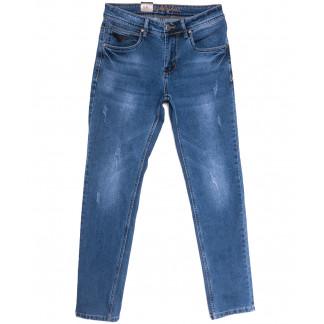 2231 Longli джинсы мужские с царапками синие весенние стрейчевые (30-38, 8 ед.) Longli: артикул 1106566