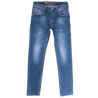 2232 Longli джинсы мужские молодежные с царапками синие весенние стрейчевые (28-36, 8 ед.) Longli: артикул 1106573