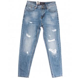 2208 Longli джинсы мужские молодежные с рванкой голубые весенние коттоновые (28-34, 8 ед.) Longli: артикул 1106584