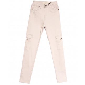 0746 Happy Pink джинсы женские с боковыми карманами бежевые весенние стрейчевые (26-31, 8 ед.) Happy Pink: артикул 1106724