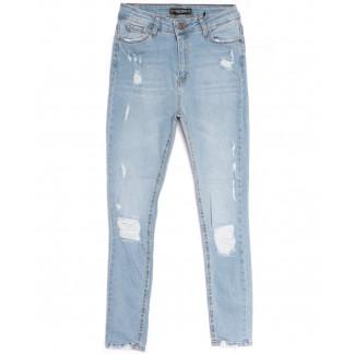 11034 Real Focus джинсы женские с рванкой синие весенние стрейчевые (26-31, 6 ед.) Real Focus: артикул 1106733