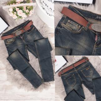 0775-327 Erplus джинсы женские темно-синие весенние стрейчевые (25,26,27,28,30, 5 ед.) Erplus: артикул 1106783