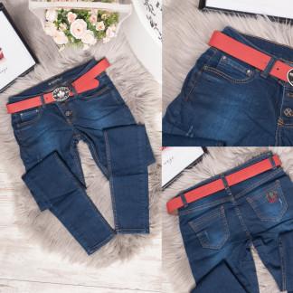 0778-327 Erplus джинсы женские с царапками синие весенние стрейчевые (25-30, 6 ед.) Erplus: артикул 1106786