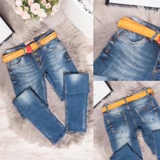 3030 Esqua джинсы женские с царапками синие весенние стрейчевые (26,27,27,28,29,30,31, 7 ед.) Esqua: артикул 1106808