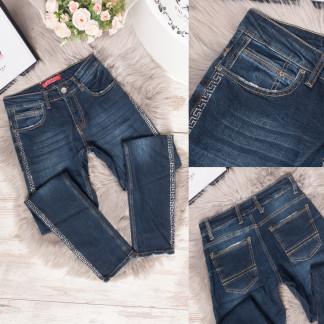 4022 Esqua джинсы женские с лампасами темно-синие весенние стрейчевые (25-30, 6 ед.) Esqua: артикул 1106821