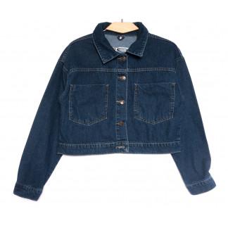 0022 777Plus куртка джинсовая женская синяя весенняя коттоновая (34-40, 5 ед.) 777Plus: артикул 1106906