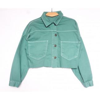 1793 зеленая Defile куртка джинсовая женская весенняя коттоновая (S-XL, 5 ед.) Defile: артикул 1107112