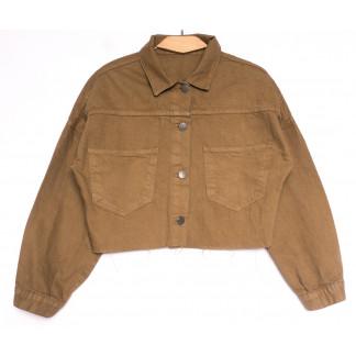 1793 коричневая Defile куртка джинсовая женская весенняя коттоновая (S-XL, 5 ед.) Defile: артикул 1107114