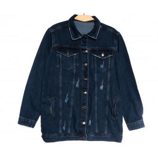 8000 Real Focus куртка джинсовая женская c рванкой синяя весенняя коттоновая (34-42,евро, 5 ед.) Real Focus: артикул 1107115
