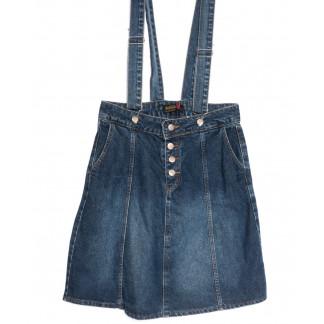 0800-113 Kind Lady сарафан джинсовый синий весенний коттоновый (S-XL, 4 ед.) Kind Lady: артикул 1106914