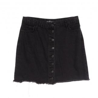 6009-B1 Real Focus юбка джинсовая на пуговицах серая весенняя коттоновая (30-34,евро, 5 ед.) Real Focus: артикул 1107118