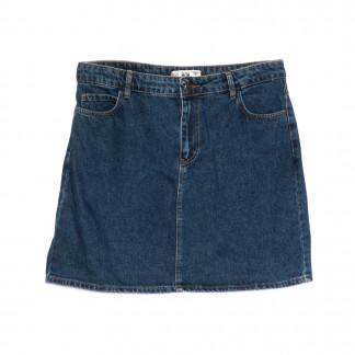 6010-В2 Real Focus юбка джинсовая синяя весенняя стрейчевая (30-34,евро, 5 ед.) Real Focus: артикул 1106925