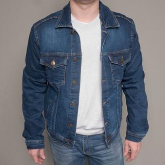 5322-02 синяя Revanj куртка мужская джинсовая батальная осенняя стрейчевая (XL-4XL, 4 ед.) Revanj: артикул 1100225