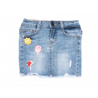 0092 Miss Happy юбка на девочку синяя весенняя стрейчевая (20-28, 6 ед.) Miss Happy: артикул 1105114