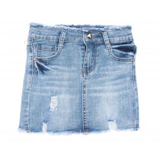 0093 Miss Happy юбка на девочку синяя весенняя стрейчевая (23-28, 6 ед.) Miss Happy: артикул 1105120