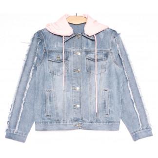 0814 New Jeans куртка джинсовая женская синяя весенняя коттоновая (XS-XXL, 6 ед.) New Jeans: артикул 1105129