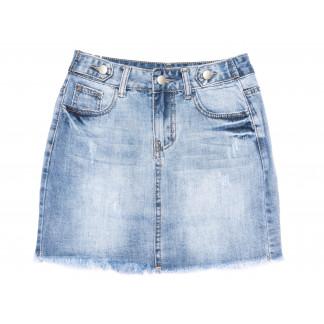 3698 New Jeans юбка джинсовая синяя весенняя коттоновая (25-30, 6 ед.) New Jeans: артикул 1105132