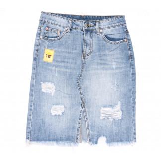 3701 New Jeans юбка джинсовая синяя весенняя коттоновая (25-30, 6 ед.) New Jeans: артикул 1105134