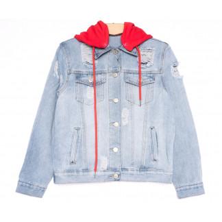 0812 New Jeans куртка джинсовая женская синяя весенняя коттоновая (XS-XXL, 6 ед.) New Jeans: артикул 1105135