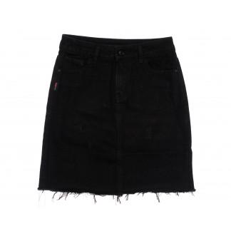 3695 New Jeans юбка джинсовая черная весенняя коттоновая (25-30, 6 ед.) New Jeans: артикул 1105139