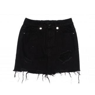 3694 New Jeans юбка джинсовая черная весенняя коттоновая (25-30, 6 ед.) New Jeans: артикул 1105140