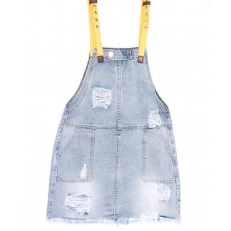3678 New Jeans комбинезон джинсовый синий весенний коттоновый (25-30, 6 ед.) New Jeans: артикул 1105141
