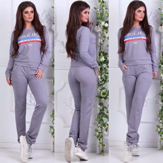0005-03 серый женский спортивный костюм (42,42,42, 3 ед.) Костюм: артикул 1106831