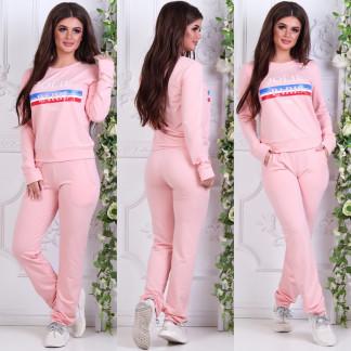 0005-01 розовый женский спортивный костюм (42,44,46, 3 ед.) Костюм: артикул 1106835