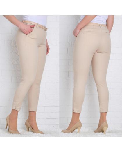 9783-P (GS9783P) Moon girl брюки женские батальные 7/8 бежевые весенние стрейчевые (30-38, 6/12 ед.) Moon Girl
