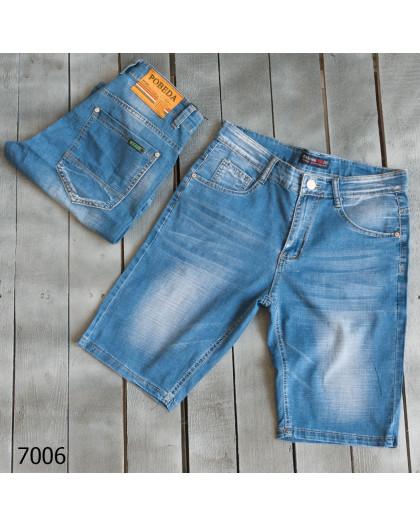 7006-02 Pobeda шорты джинсовые мужские стрейчевые (30,31,31,32,33,40, 6 ед.) Pobeda