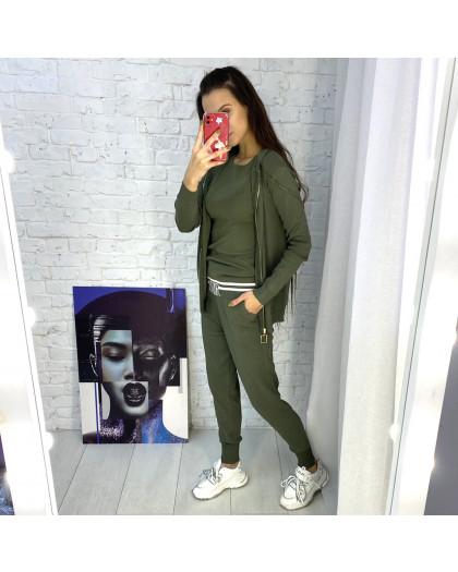 1712-1 M.K.Store зеленый спортивный костюм женский (3 ед.размеры: универсал 44-48) M.K.Store
