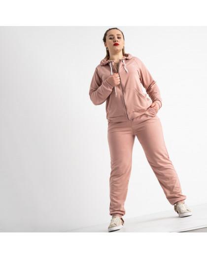 15111-4 Mishely пудра женский спортивный костюм батальный из двунитки (4 ед. размеры: 50.52.54.56)  Mishely