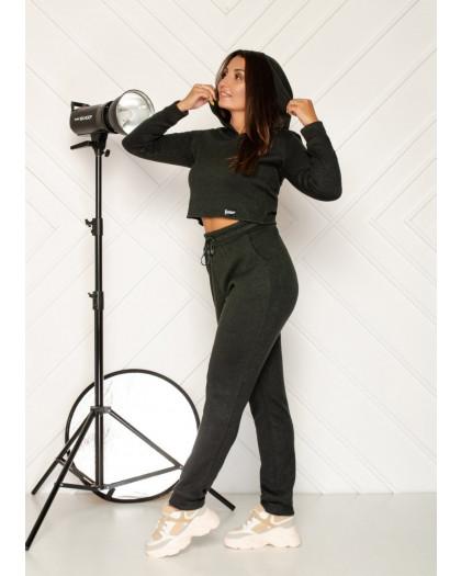 0545-3 хаки спортивный костюм женский из двунитки ( 5 ед. размеры: 46.48.50.52.54) Спортивный костюм
