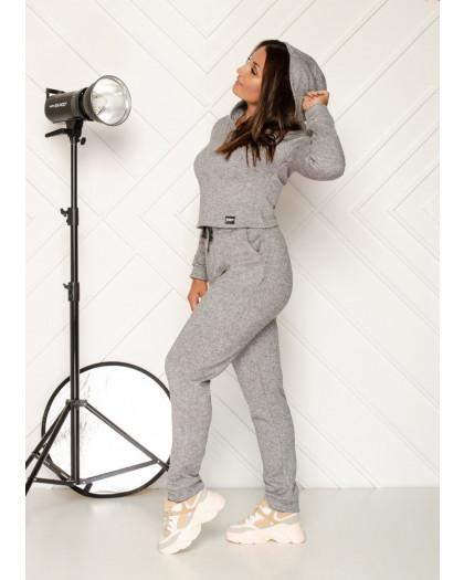 0545-2 серый спортивный костюм женский из двунитки ( 4 ед. размеры: 48.50.52.54) Спортивный костюм