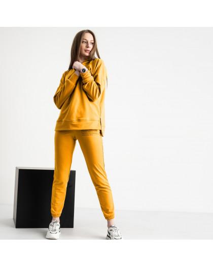 15115-13 Mishely желтый женский спортивный костюм из двунитки (4 ед. размеры: S.M.L.XL) Mishely