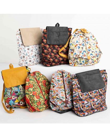 8999-2 цветной рюкзак женский микс 5-ти моделей (5 ед. без выбора моделей) Рюкзак