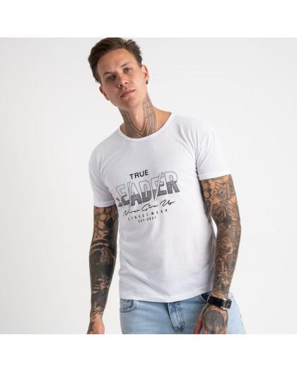 2614-10 белая футболка мужская с принтом (4 ед. размеры: M.L.XL.2XL) Футболка