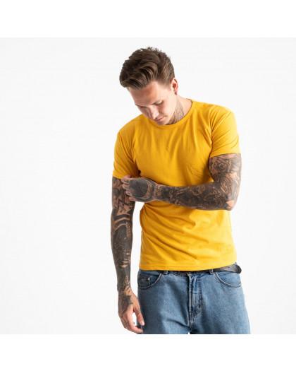 2600-66 желтая футболка мужская (4 ед. размеры: M.L.XL.2XL) Футболка