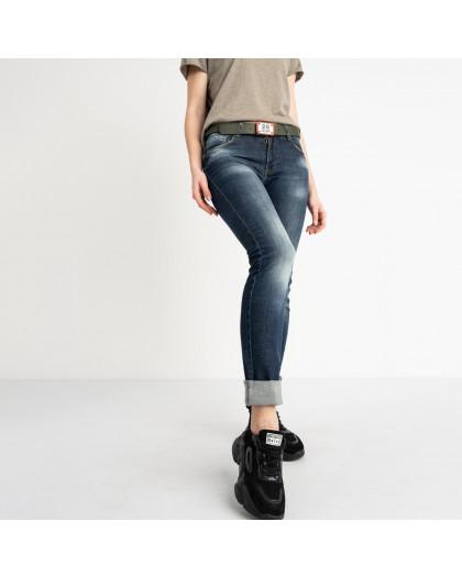 9095-B-5203 Colibri джинсы полубатальные женские темно-синие стрейчевые (7 ед. размеры: 28.29.30.31.32.33.33) Colibri