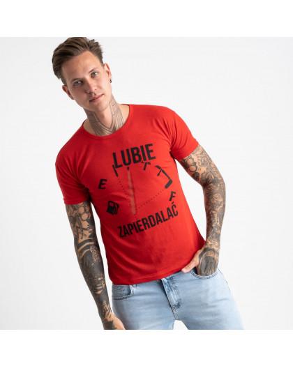 2618-3 красная футболка мужская с принтом (4 ед. размеры: M.L.XL.2XL) Футболка