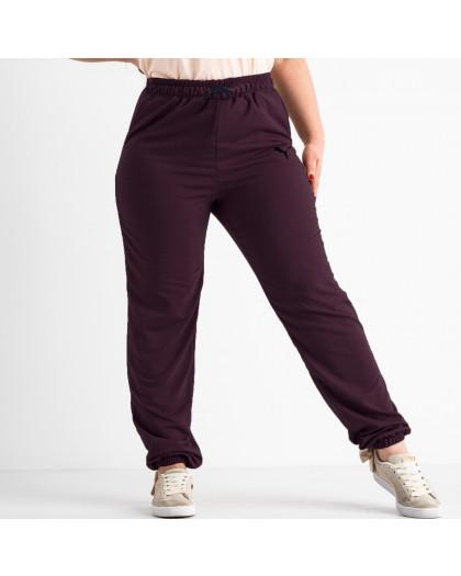 14870-6 Mishely бордовые брюки спортивные батальные стрейчевые (4 ед. размеры: 50.52.54.56) Mishely