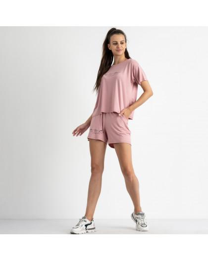 8340-2 розовый женский костюм  трикотажный (4 ед. размеры: 42.44.46.48) Спортивный костюм