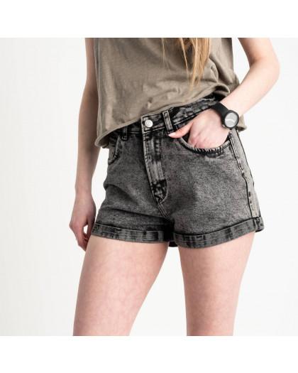 0051-9 A Relucky шорты серые женские стрейчевые (6 ед. размеры: 25.26.27.28.29.30) Relucky